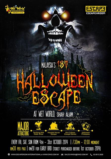 shah alam wet world halloween escape room